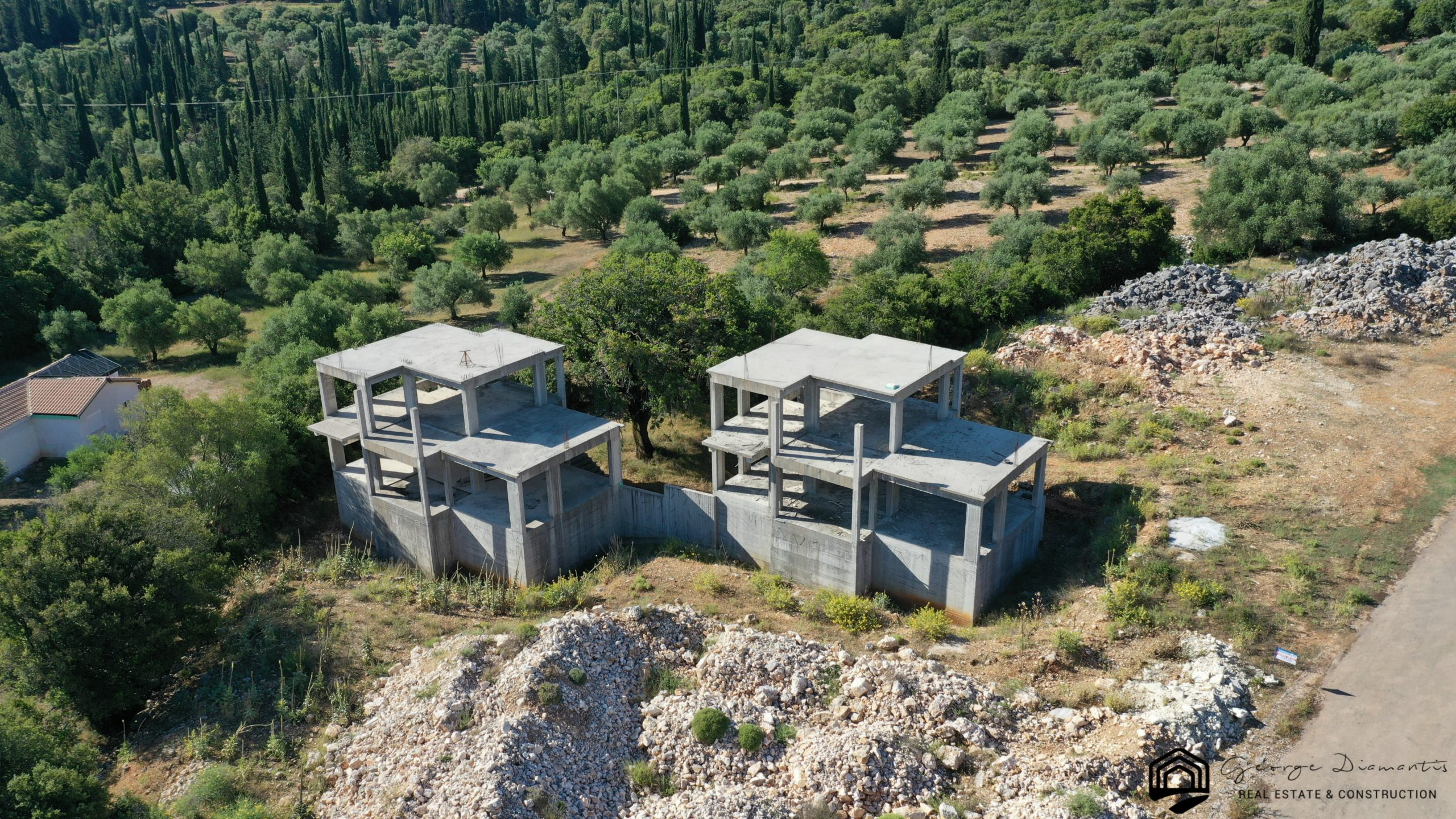 Two Incomplete Buildings For Sale In Chaliotata