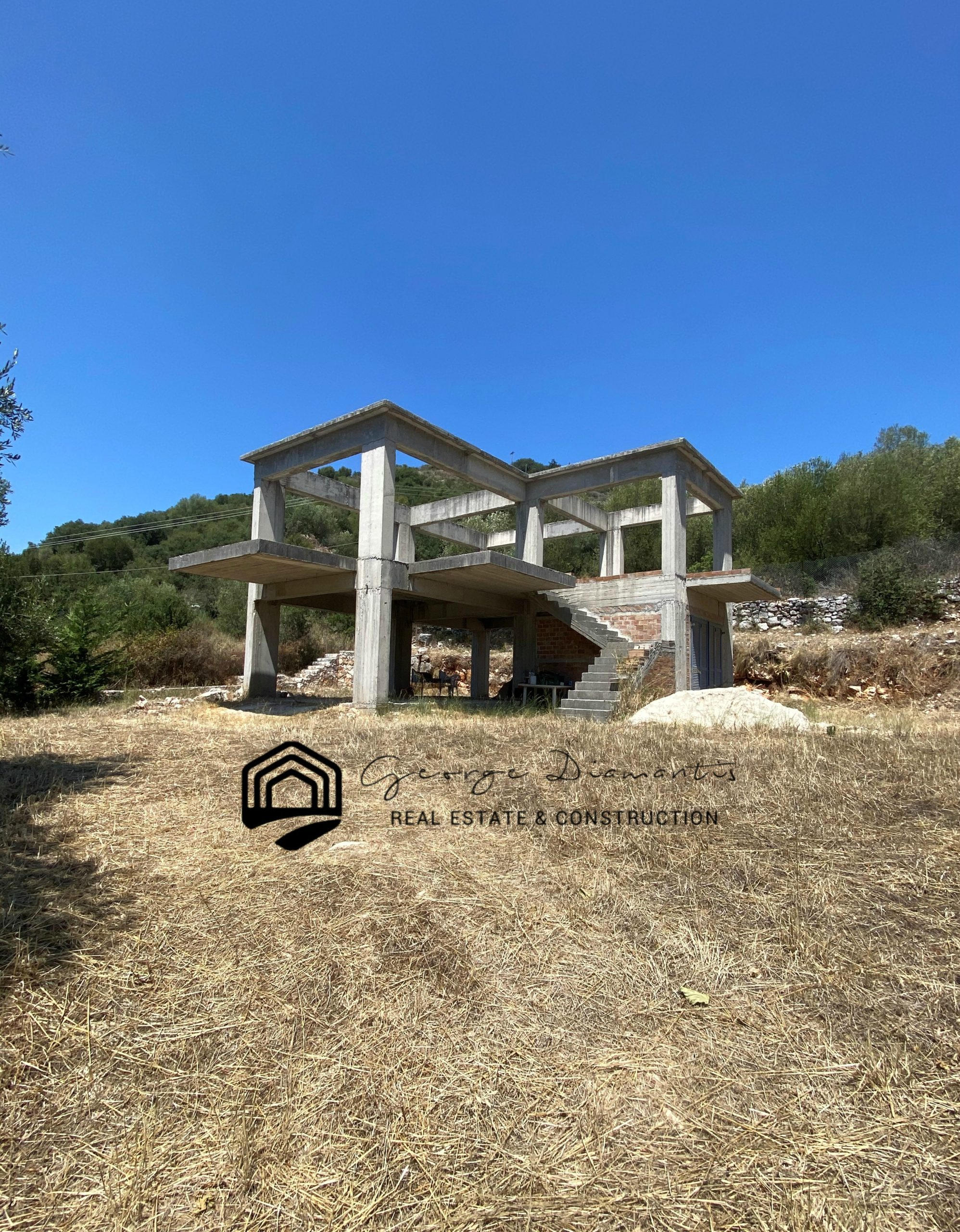 Unfinished Two-storey House For Sale In Agia Efimia